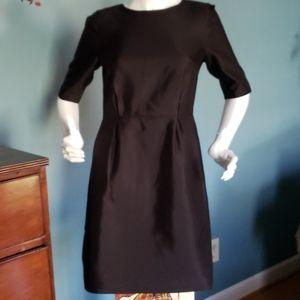 Lands' End Beautiful Black Cocktail Dress Size 4
